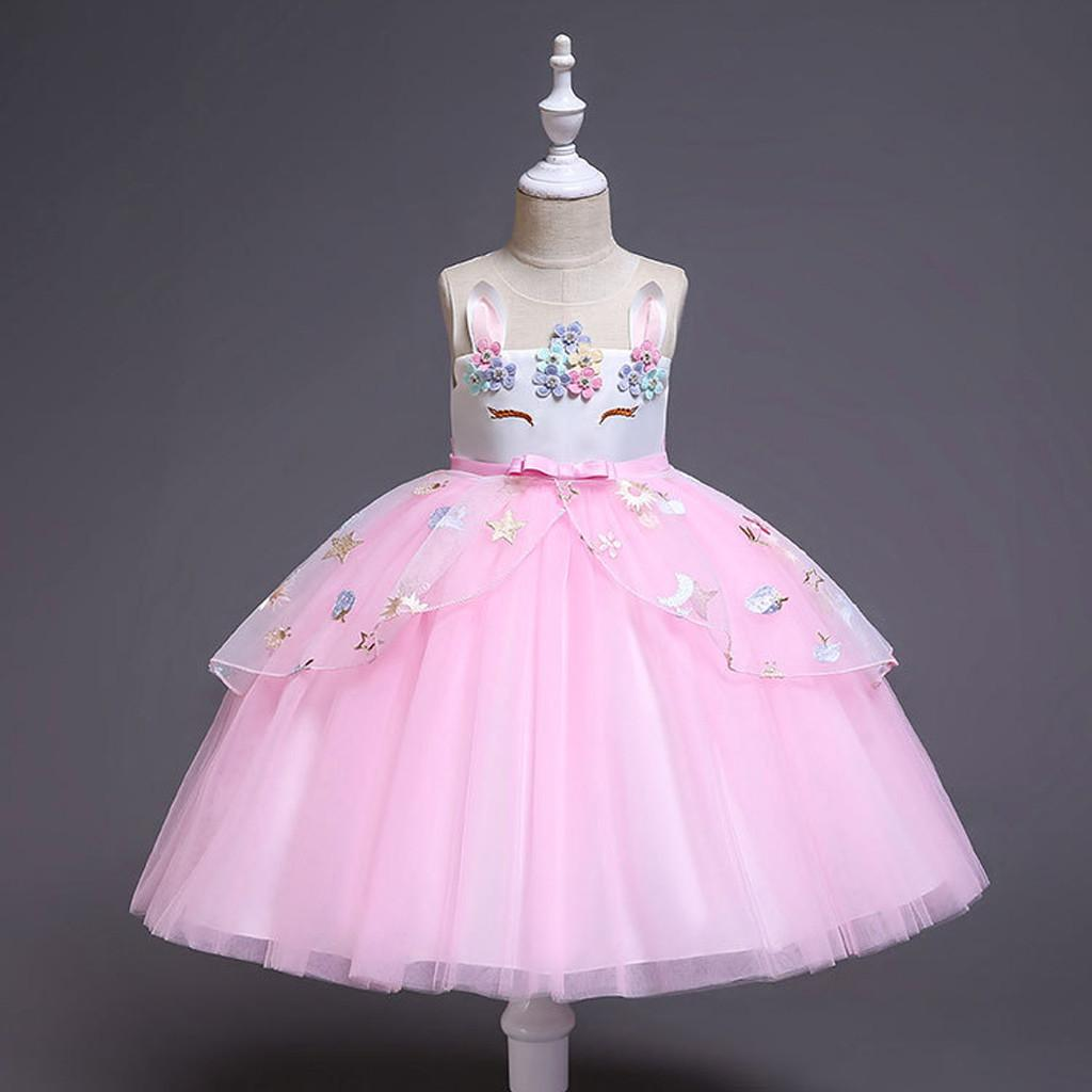 0ed05d5924 Rainbowroom 2019 Toddler Kids Baby Girls Sleeveless Tulle skirt Princess  Party Dresses Clothes