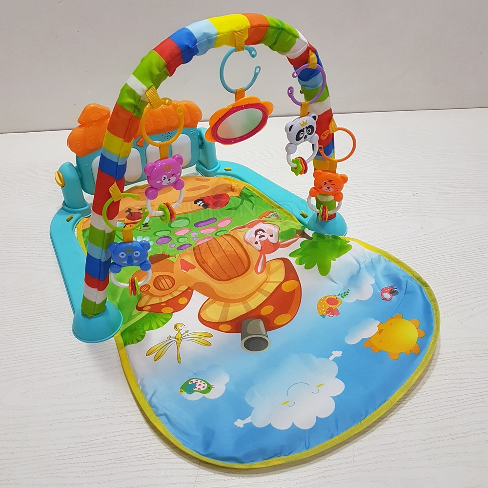 Beautiful 3 In 1 Baby Playing Gym/Mat, Musical Carpet And Piano Fitness Rack