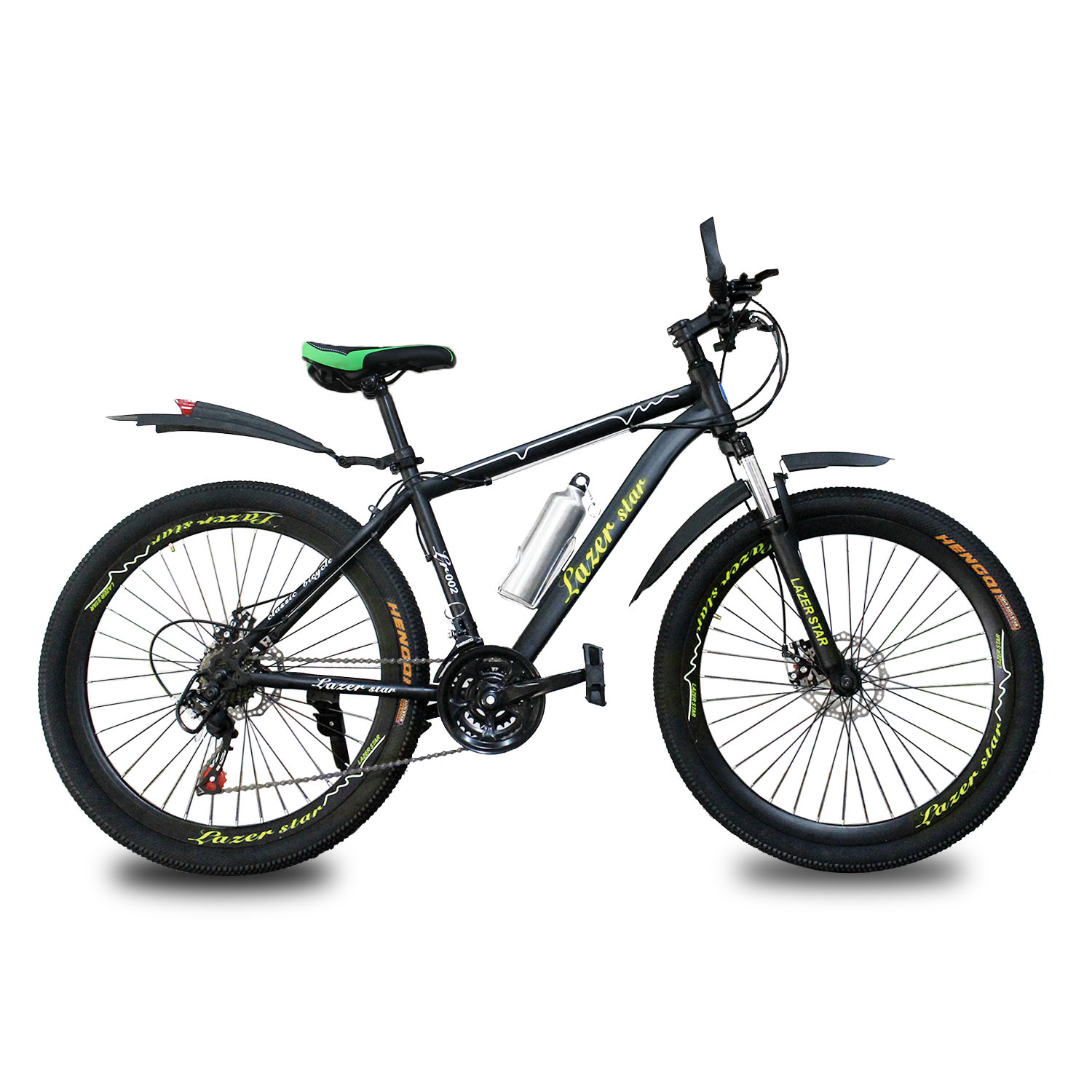 New 2020 model LAZER STAR bicycle/cycle/BMX/ mountain Bike for boys 26 inch made in Taiwan 10 Gears  body original with shocks and two years warranty color Yellow