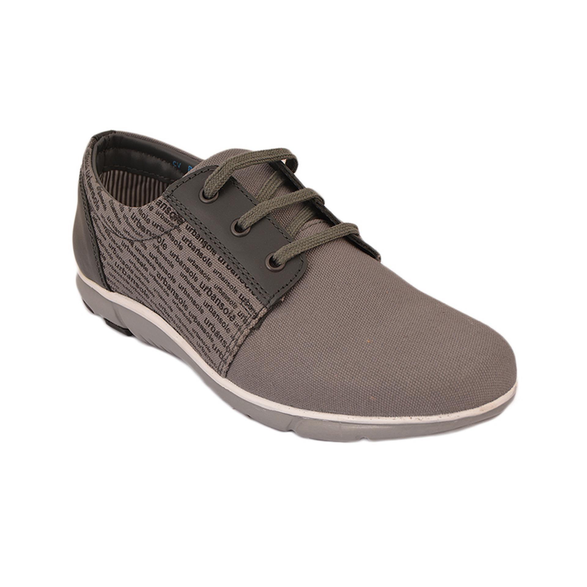 Urban Sole Grey Canvas Shoes Winter Collection - Cv-8101