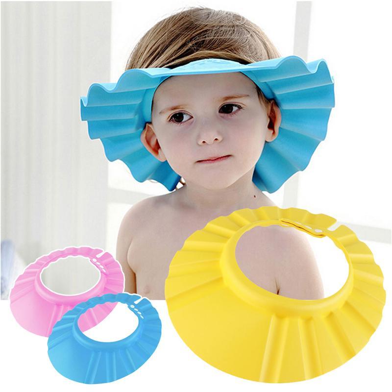 Adjustable Soft Baby Children Shampoo Bath Shower Cap For Kids Head To Hat Child Bathing