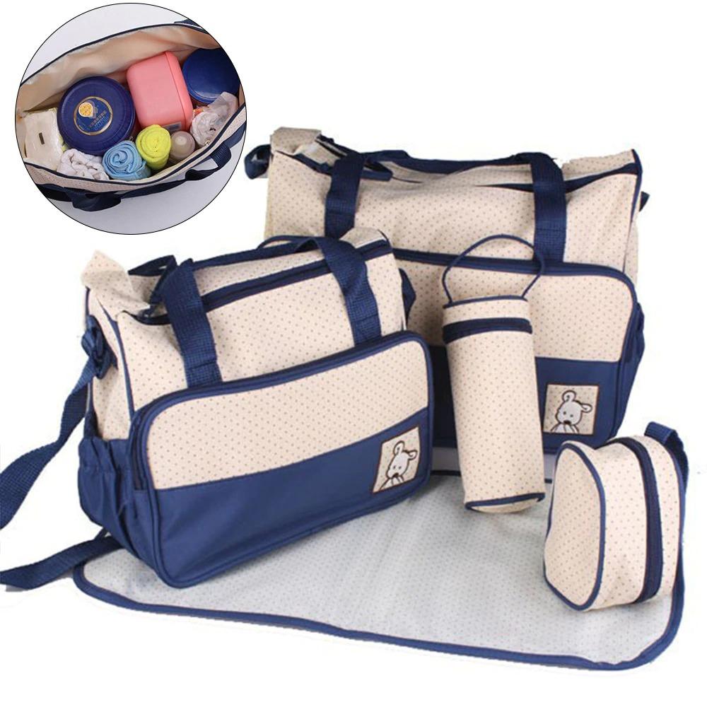 Baby Diaper Bag 5pcs Blue