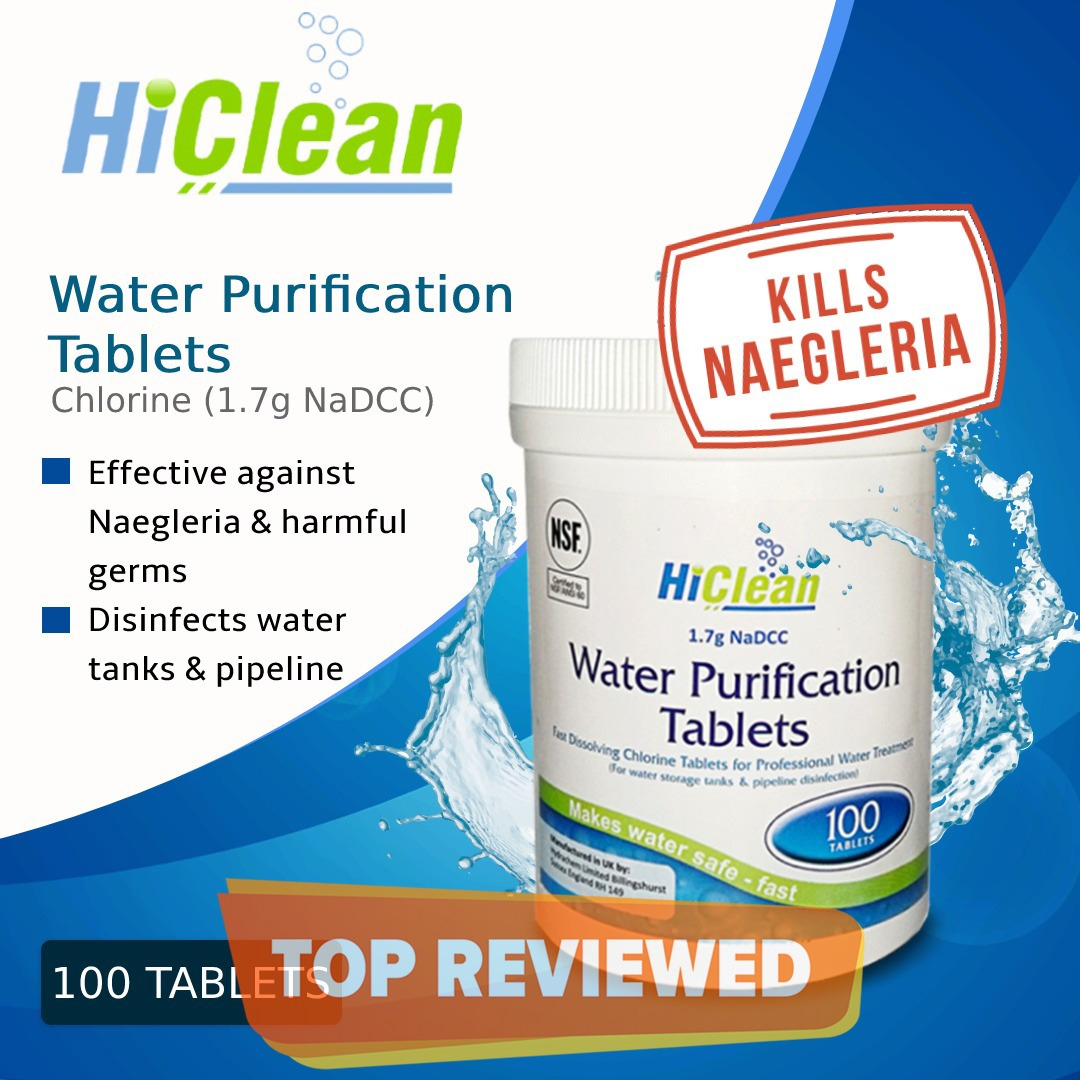 HiClean Water Purification Chlorine Tablets (1.7g NaDCC) - 100s