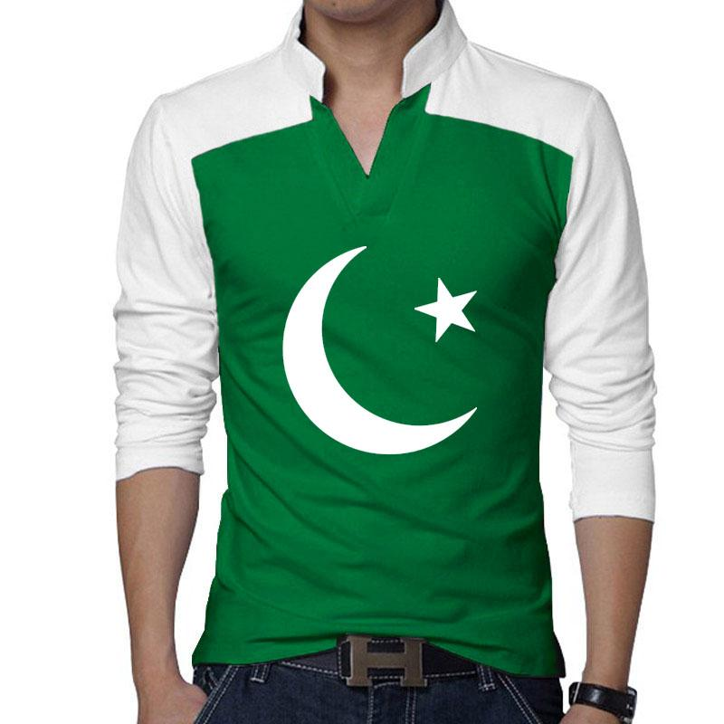 1509839b0 Independence Day - 14 August Green and White T Shirts for Men - Design 39