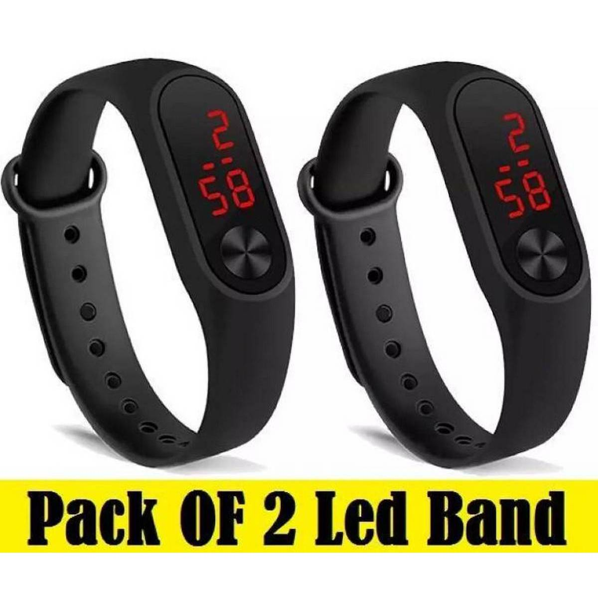 Pack of 2 M3 Touch Led Bracelet Digital Watch Band Watch for boys Watch for girls Watch for boys stylish Watch for boys digital Watch for boys branded Watch for boys apple Watch for boys chain Watch for girls 2020 Watch for boys touch Watch for boys brand