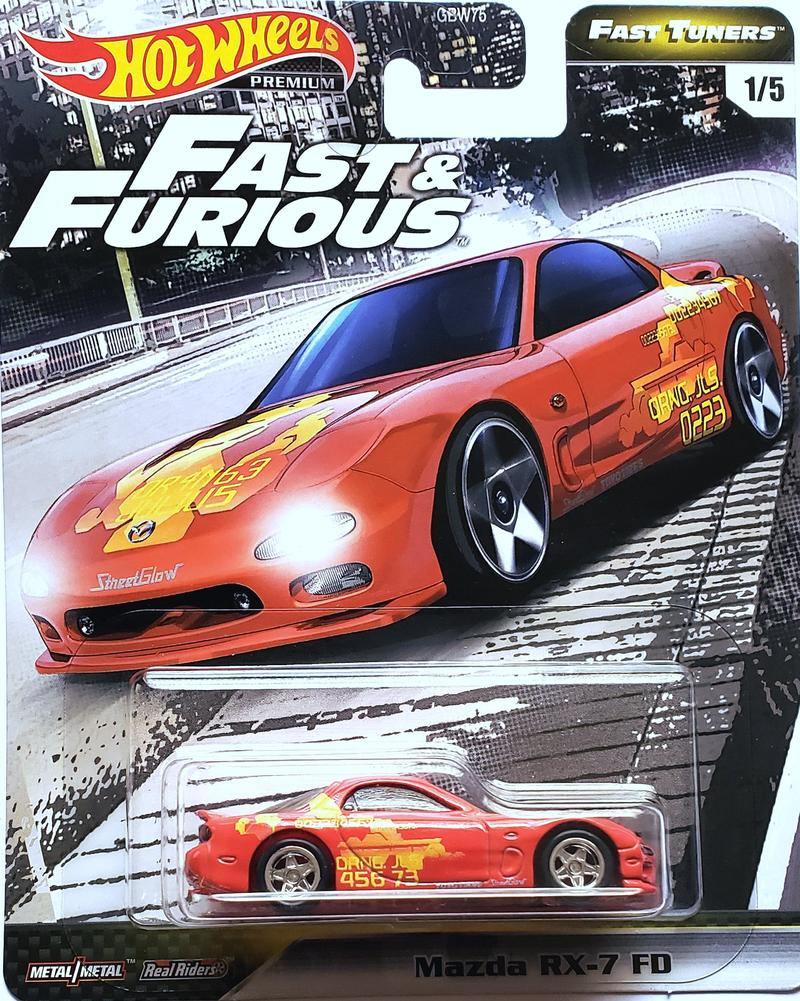 Hot Wheels Premium - 1995 Mazda RX-7 FD Fast & Furious Diecast Model