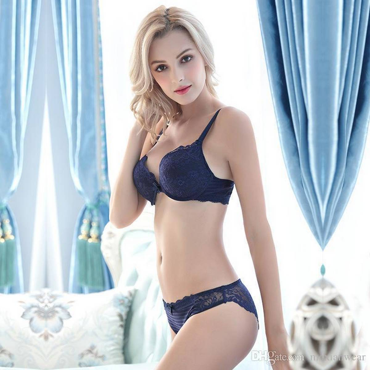 Lace Push Up Bra and Panty Sets Embroidery Intimates Floral French Luxury Lingerie