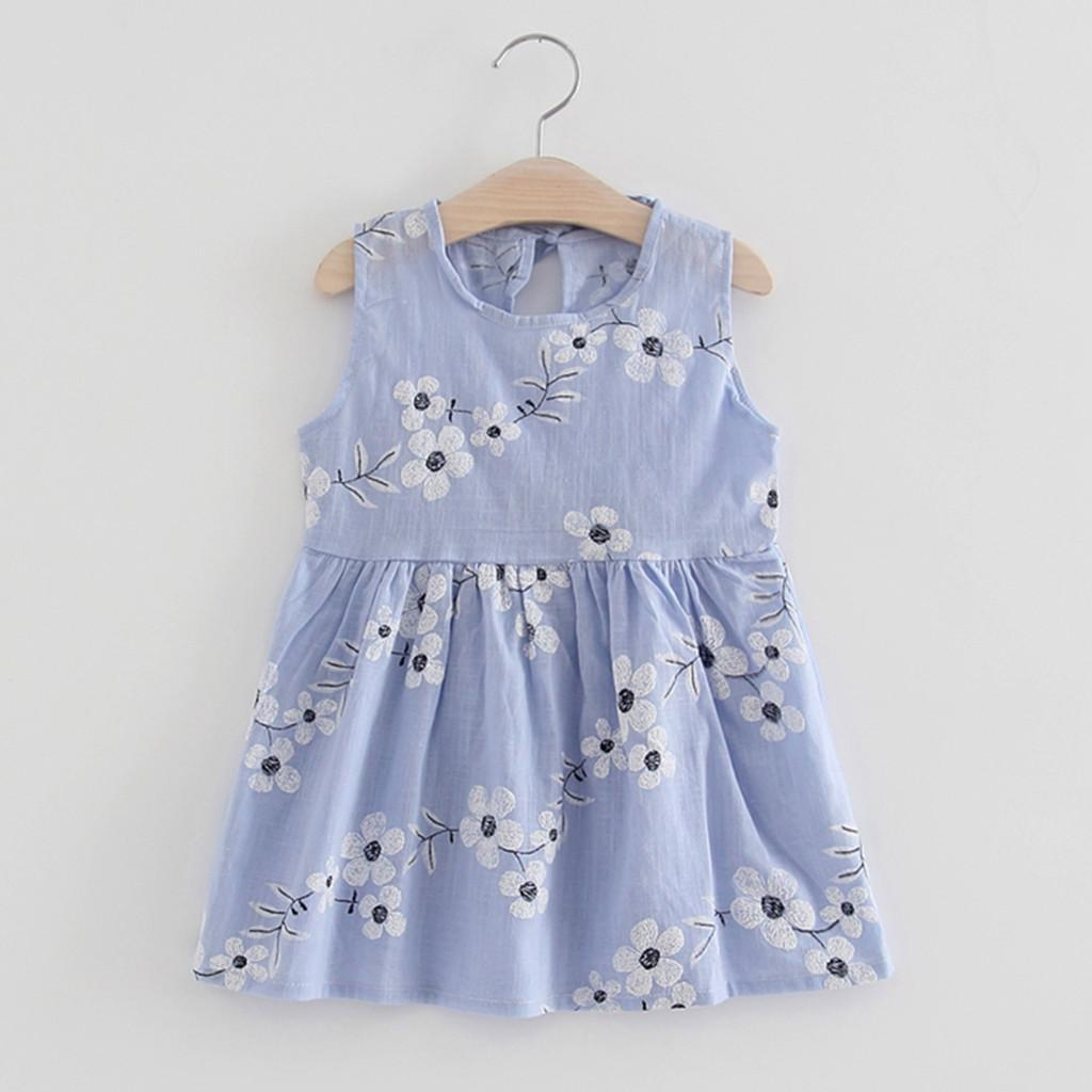 4b99853e1 Rainbowroom 2019 Toddler Girls Summer Princess Dress Kids Baby Party  Wedding Sleeveless Dresses