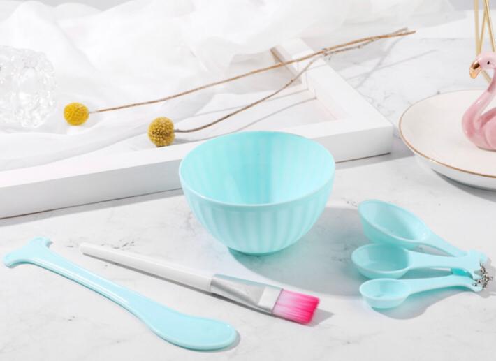Facial Mask Bowl set, 4 in 1 DIY bowl set, mixing bowl, 6 pcs set
