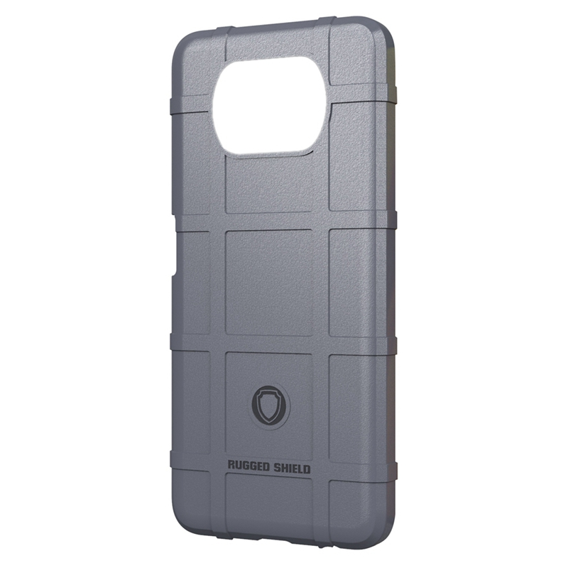 RUGGED SHIELD for Poco X3 Nfc Case Rugged Armor Shockproof Cases Cover Soft Silicon Protection for Poco X3 Nfc(Gray)