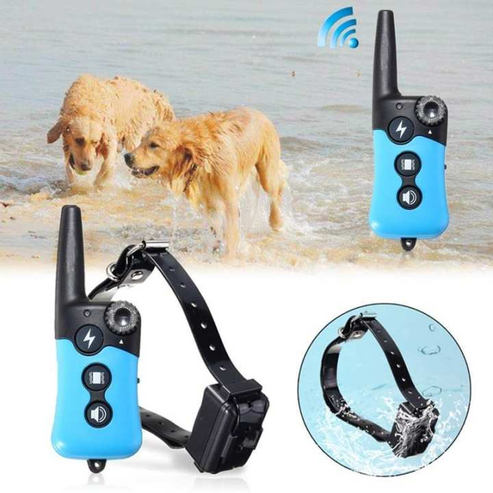 Waterproof Electronic Dog Training E-Collar Rechargeable Remote Shock Collar UK