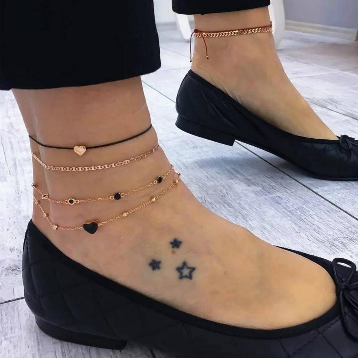 Anklet Fashion or Arm Bracelet cobo Fashion - 4 Layers Bracelet or Anklets - Women Fashion wear - Girls Fashion