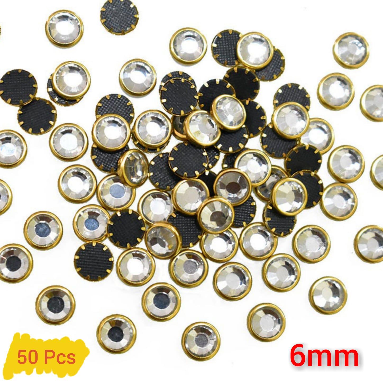 50 Pcs,  Real Kundan Beads DIY Sewing Jewelry Decoration, Round Shape