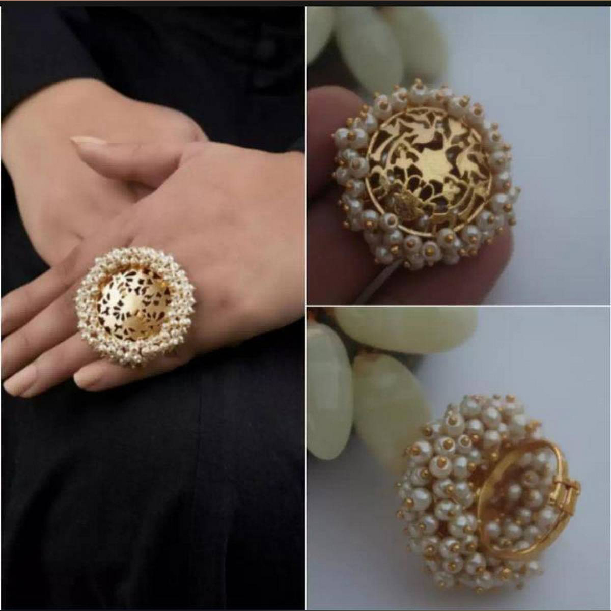 Gajra Ring With Adjustable Size