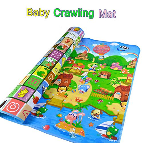 Baby Crawling Play Mat Floor Game 5ft x 6ft 8mm Double Sided
