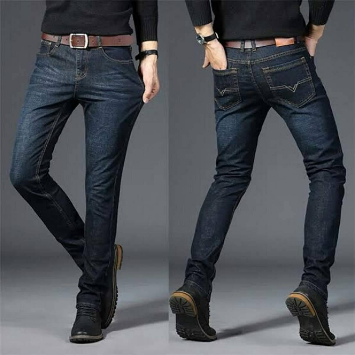 One Black Plain Jeans For Men Ukcollection