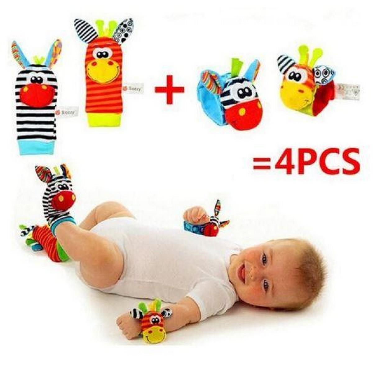 Baby Rattle Toy wrist Socks Animal Cute Cartoon Baby Socks