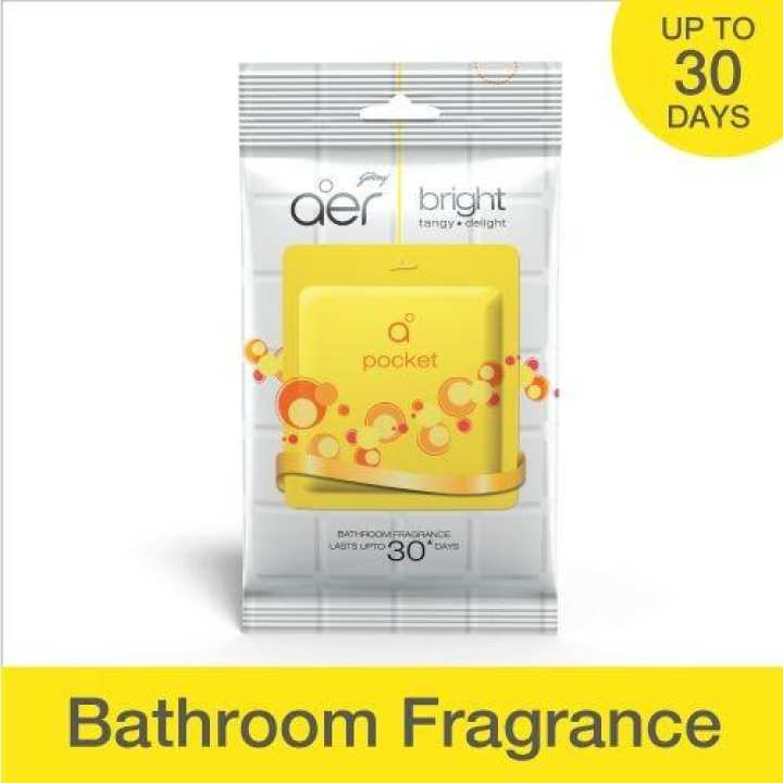 Aer Pocket -Godrej - BRIGHT Tangy Delight-  Bathroom Fragrance (India)