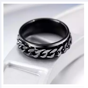 titanium stainless steel wedding rings for women accessories punk engagement couple silver male men chain finger ring female