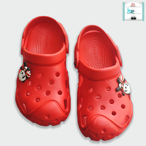 Closed toe Crocks Shoes for Kids Crocs Boys/Girls Blue and Red