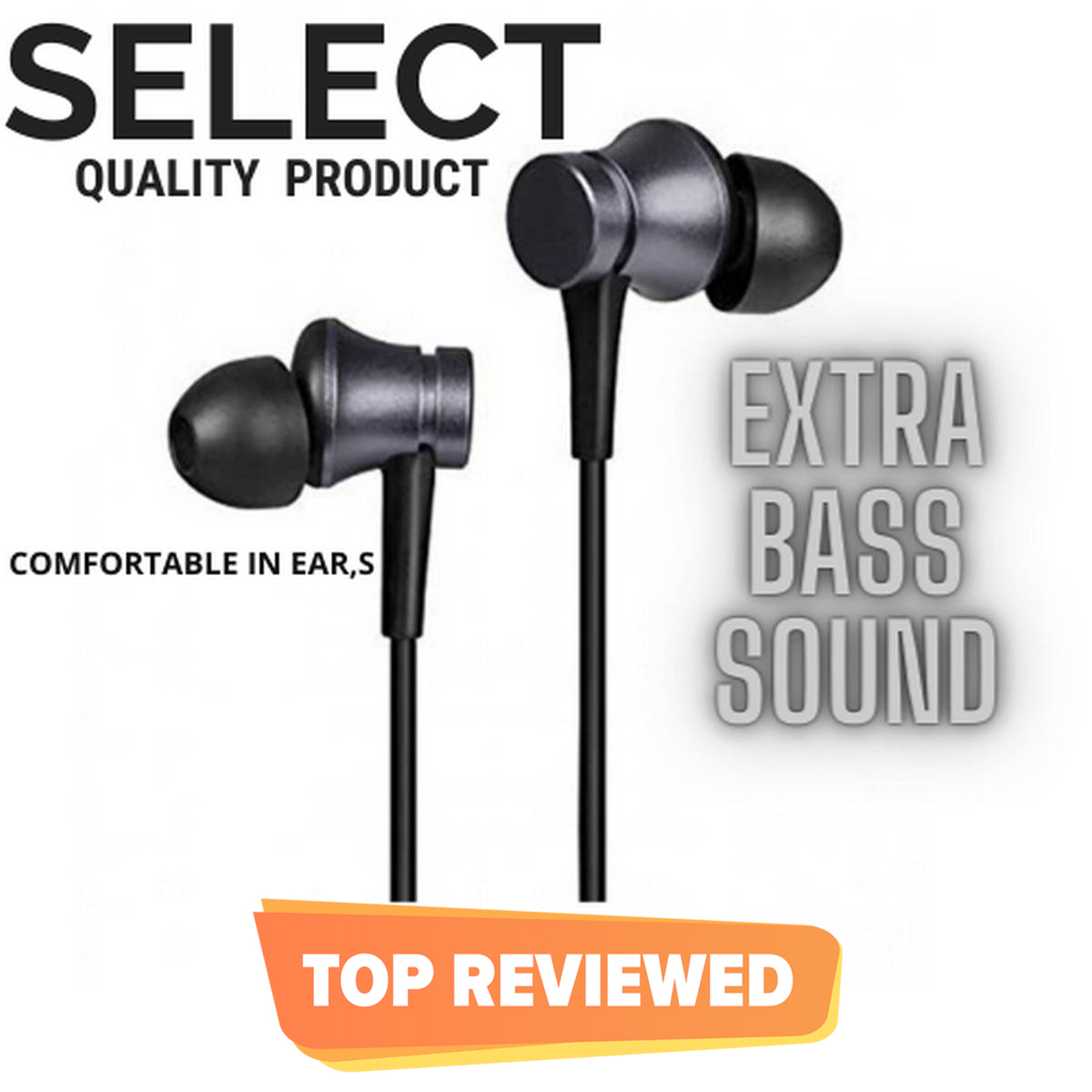 HANDSFREE ORIGINAL WITH MIC FOR ALL ANDROID MOBILE PHONES WITH EXTRA BASS SOUND