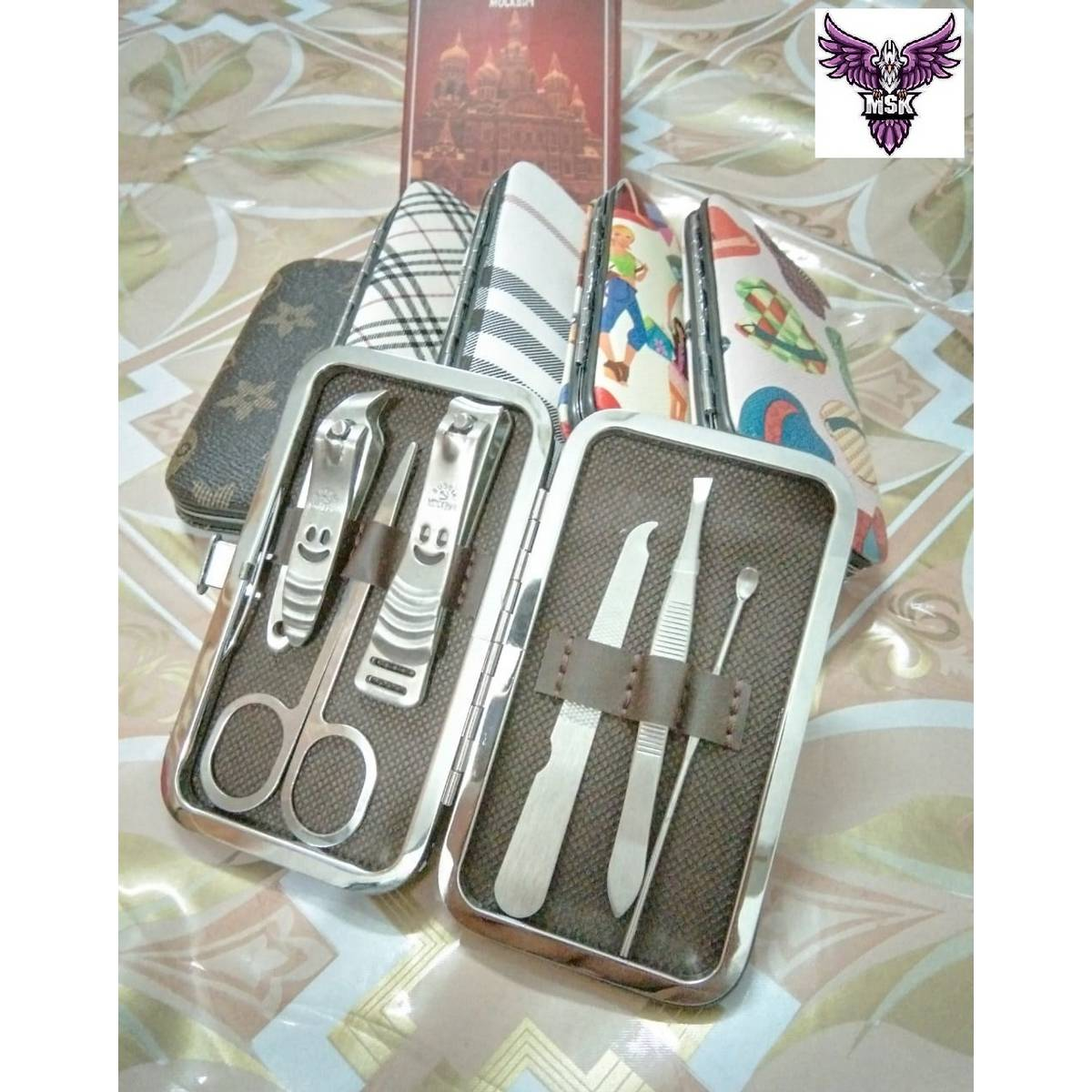 Taoye teemo 6pcs/set New Manicure Nail Clippers Pedicure Set Portable Travel Hygiene Kit Stainless Steel Nail Cutter Tool Set