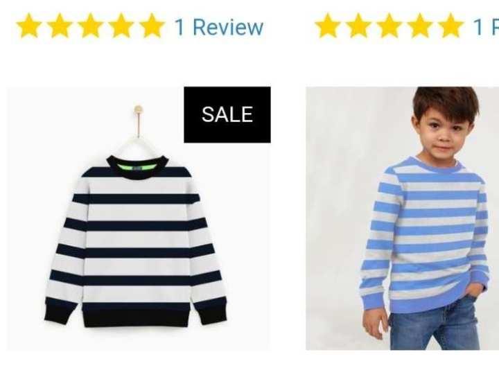 Tommy Hilfiger Crew Neck Fleece Sweatshirt For Kids-sky n white with  Print× 1