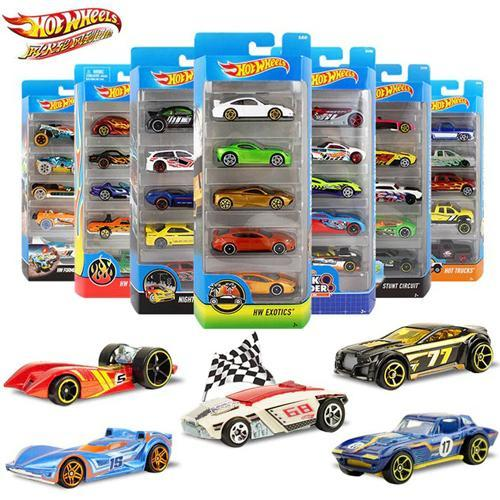 Pack of 5 Original Hot Wheels 1:64 Metal Mini Model Car Kids Toys For Children Diecast Hotwheels Birthday Gift 1806