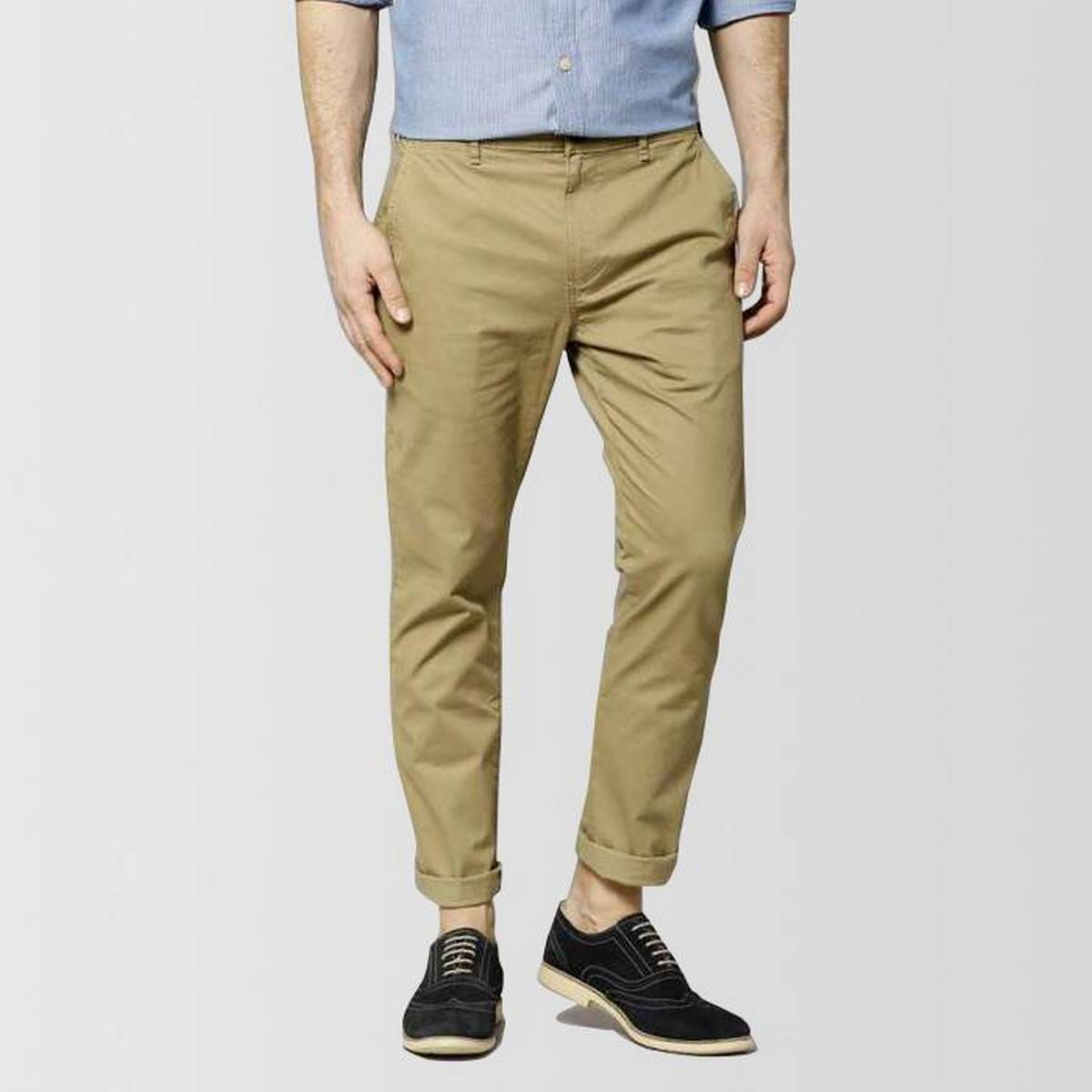 Camel Brown Slimfit Stretchable Cotton Chinos