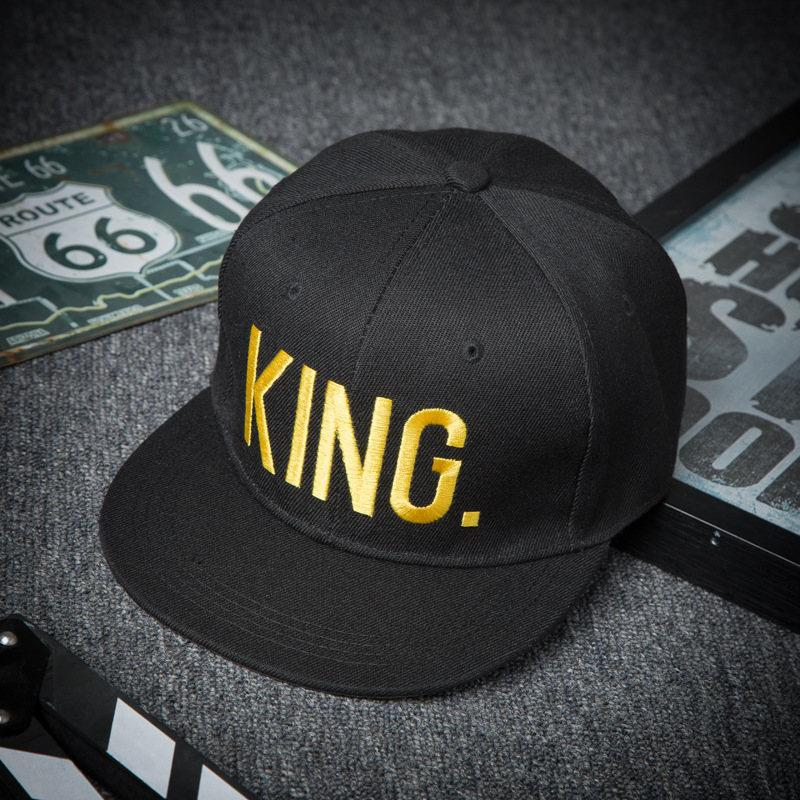 5f11566f01a7b Summer Hats For Men Hat King Mens Hat Spring Queen Kings Queen Embroidery  Couple Hip Hop