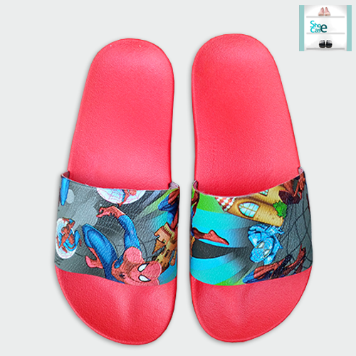 SLIPPERS FOR KIDS SPIDERMAN / SPIDER MAN RED BLUE CHAPPAL