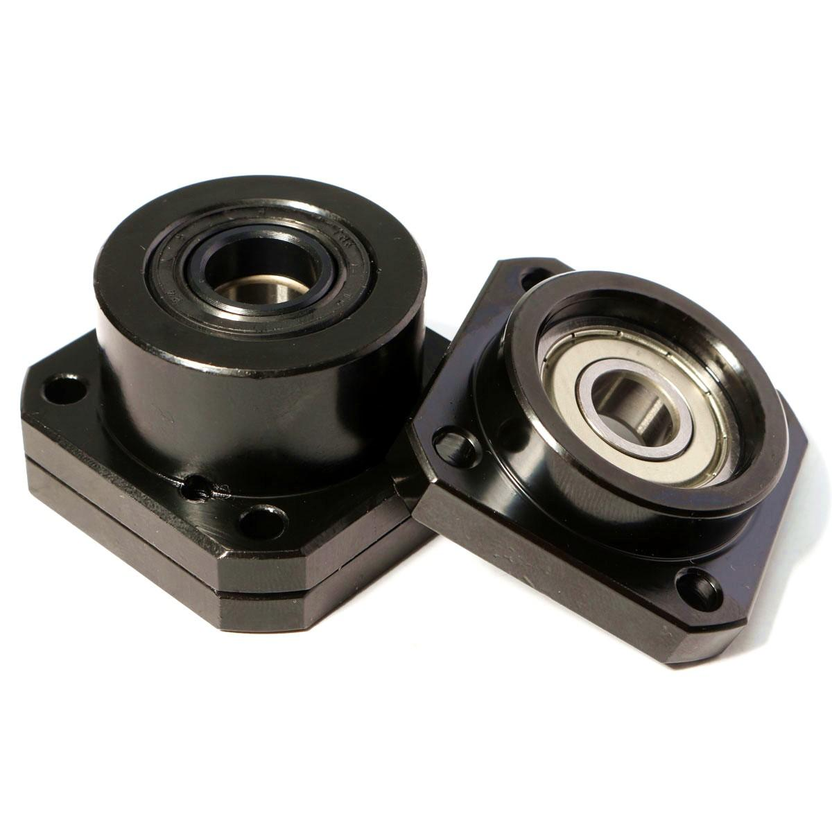 1 set CNC Ballscrew end support FK12 Fixed FF12 Floated side bearing block mount