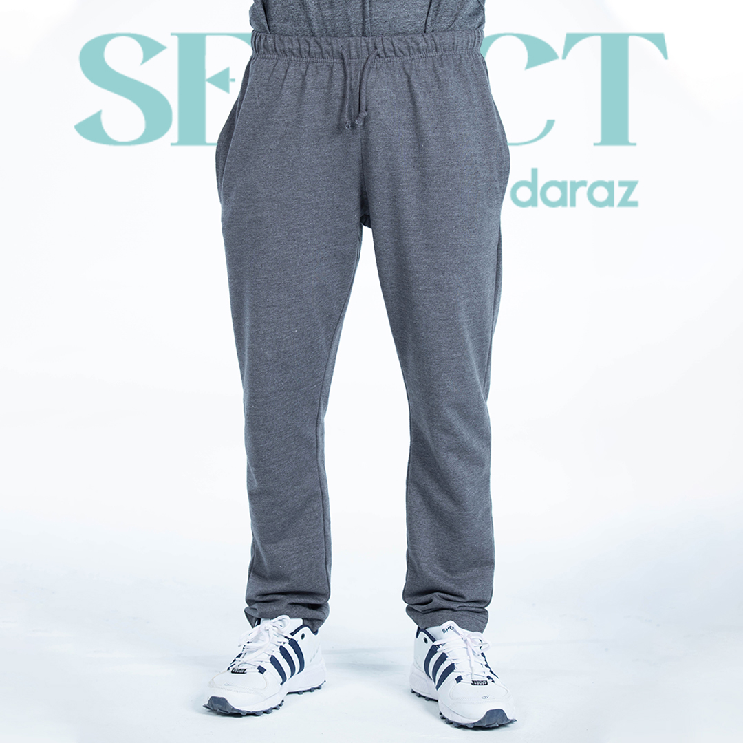 Select By  Basic Knitted Trouser For Men- Metallic Grey