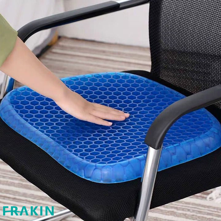 FRAKIN Egg Sitter Absorb Pressure Support Back Pain Relief Breathable Honeycomb Car and Office Cushion Seat Gel Non-Slip