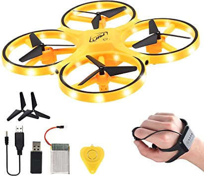 RC Drone for kids, Hand Operated Mini Drone Flying Toy Gesture Control for Adults, 2.4G Gravity Sensor 360° Flips, Altitude Hold, LED Light, Flight Time 16 Mins