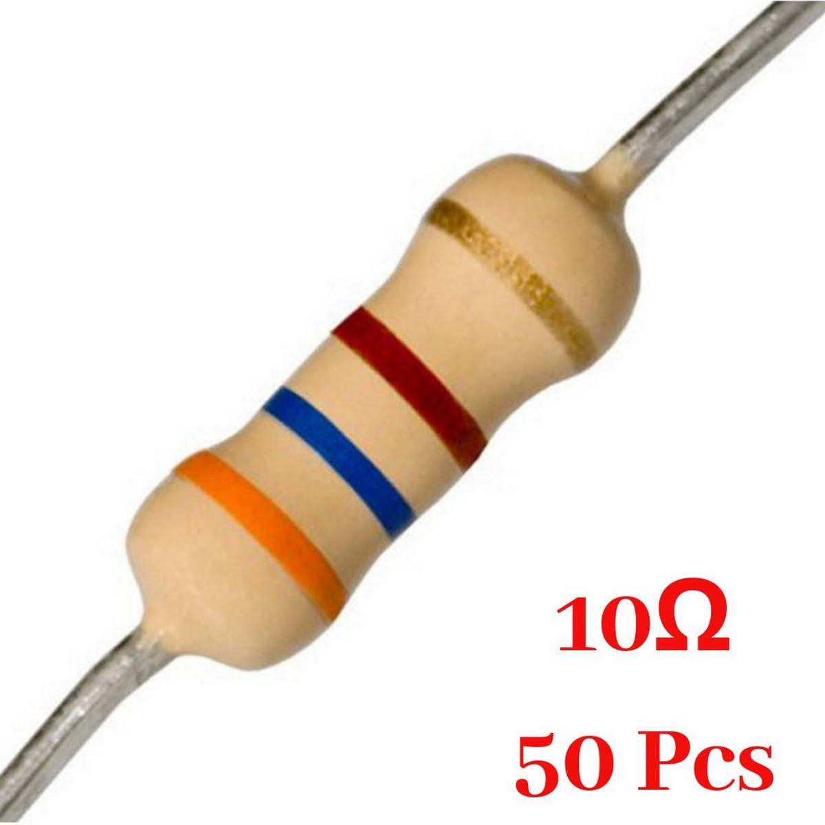 50 Pcs- 10 Ohm resistor
