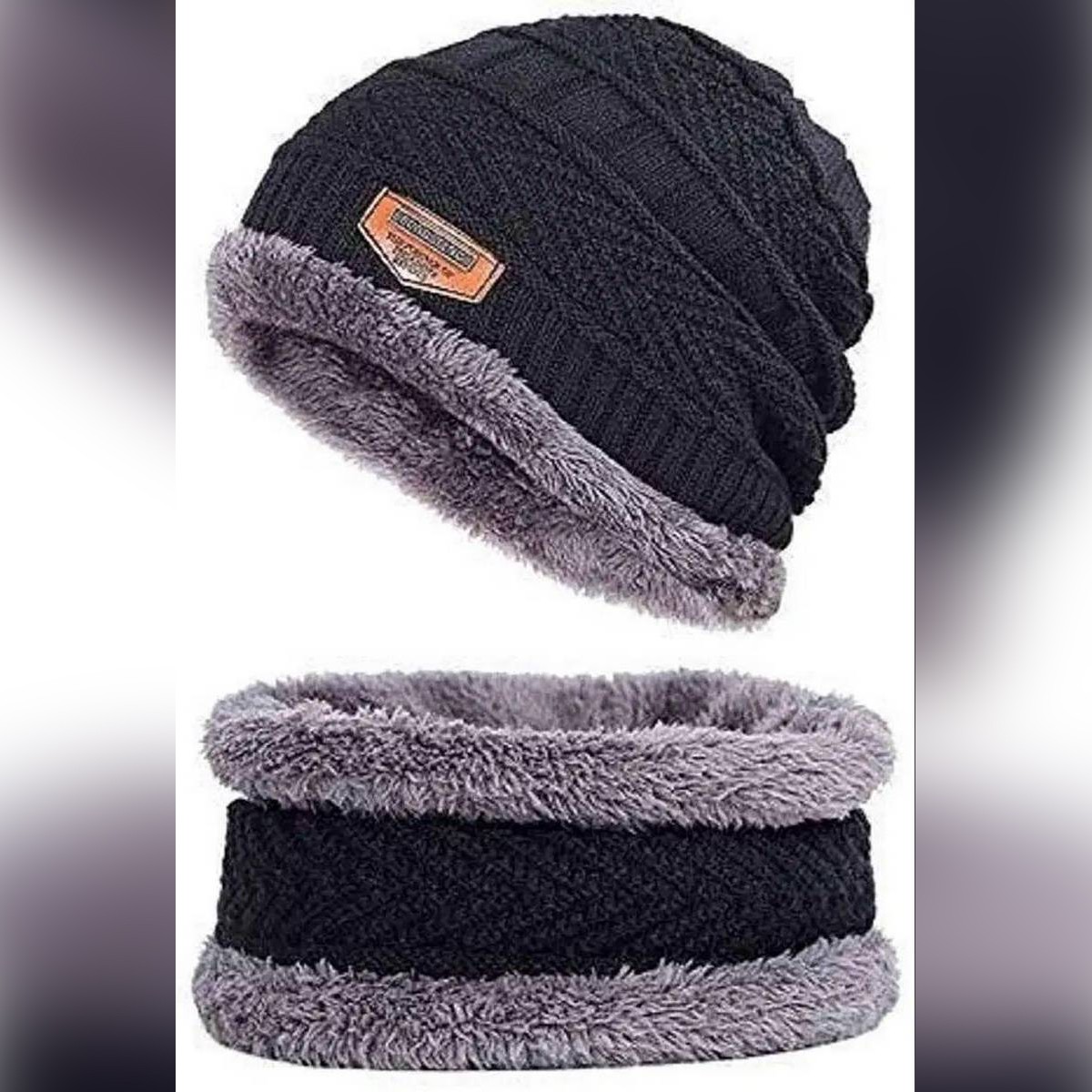 2 pieces hat and neck warmer set -Beanies/monkey Cap -Cap And Muffler set For Mans and Women's Specially for winters
