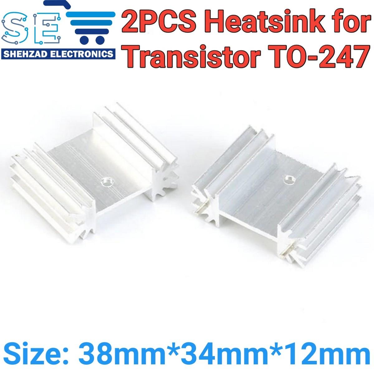 2PCS Aluminium TO-247 Heatsink Heat Sink for Transistor