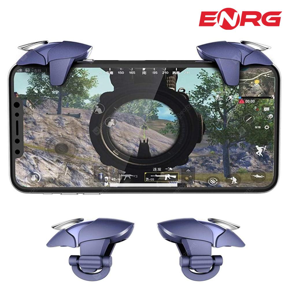 ENRG Blue Shark Mobile Gaming Buttons Trigger Controller L1 R1 Buttons PUBG - Silver