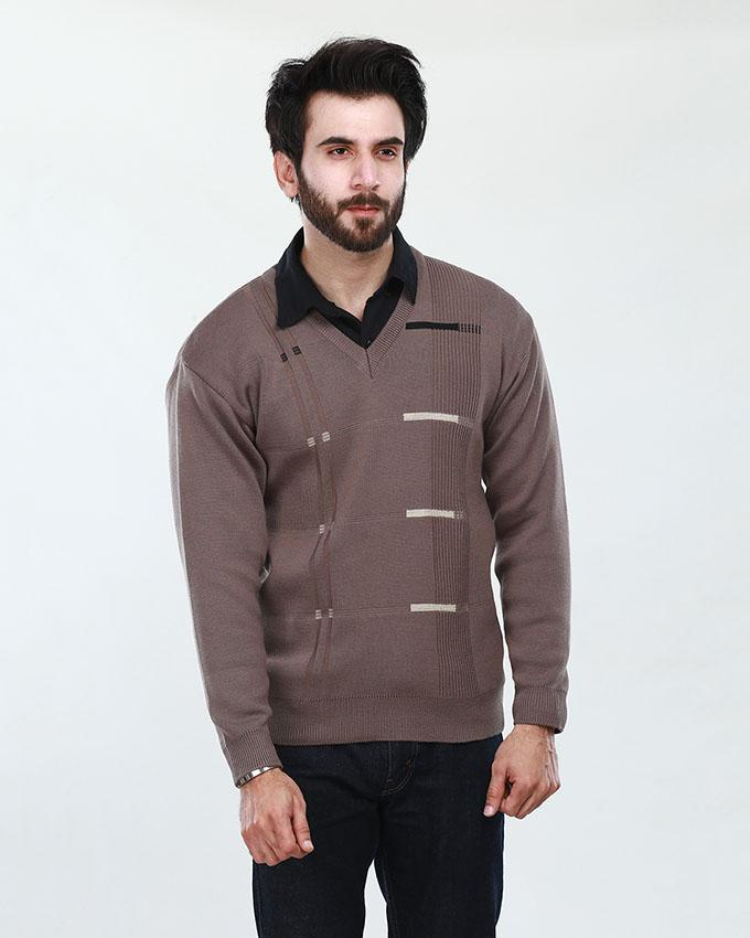 Oxford Wool Blend Design Sweater