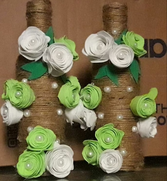 Jute Table Decoration Vase for House, Offices and Class Decoration