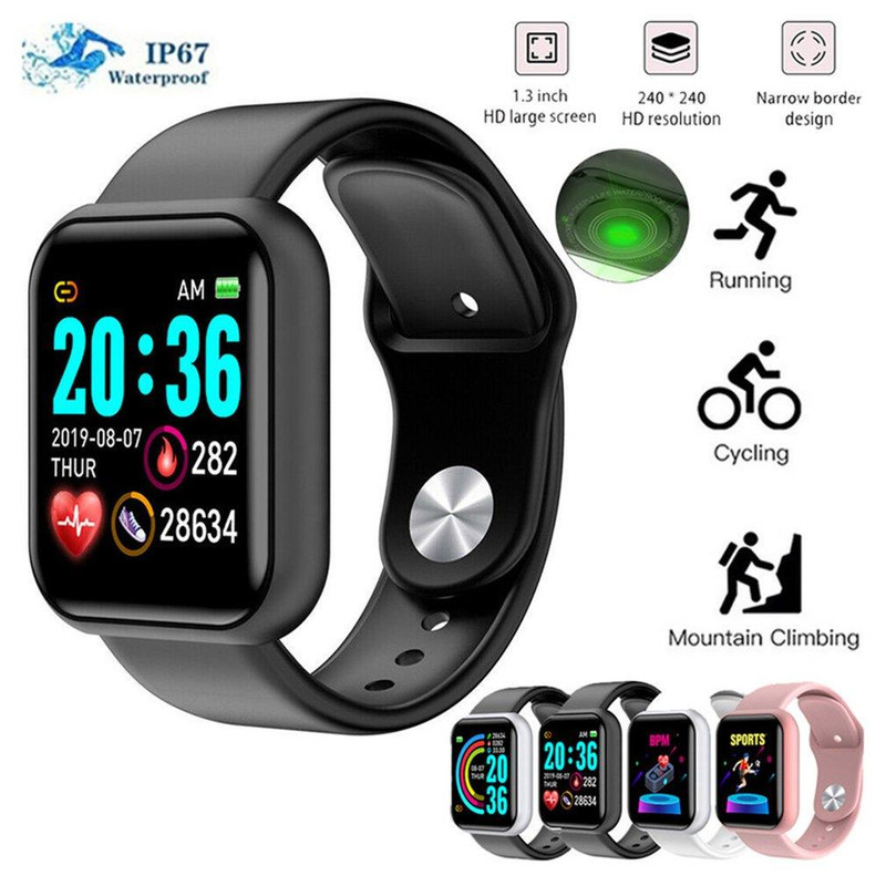 Advanced Version Pro D-20 Plus Bluetooth Smart Watch Digital Display Wrist Sports Watch IP67 Waterproof Barcelet Fitness Tracker Bp Monitor & Step Counter 1.3 Inch TFT Screen Supported For Apple iPhone Android Samsung Nokia Huawei Infinix and Mi Phones
