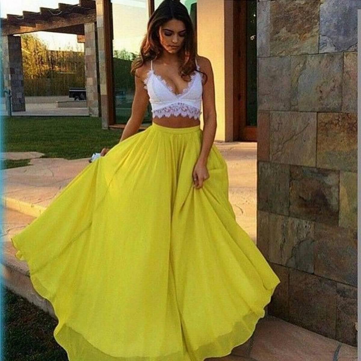 Chiffon Long Maxi Skirt For Women