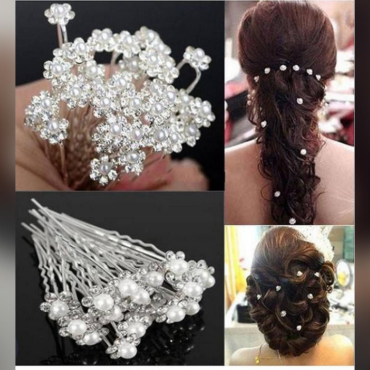 Jora Pin Stones 20PC Hairpins Wedding Women Hair Accessories Bridal