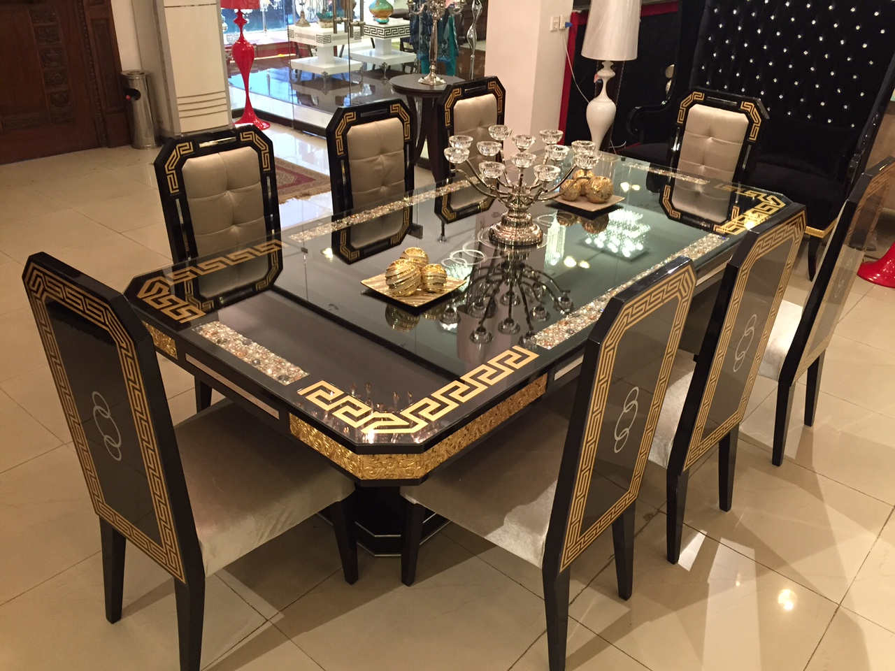 Dining Table Versace Style, Versace Dining Room Set