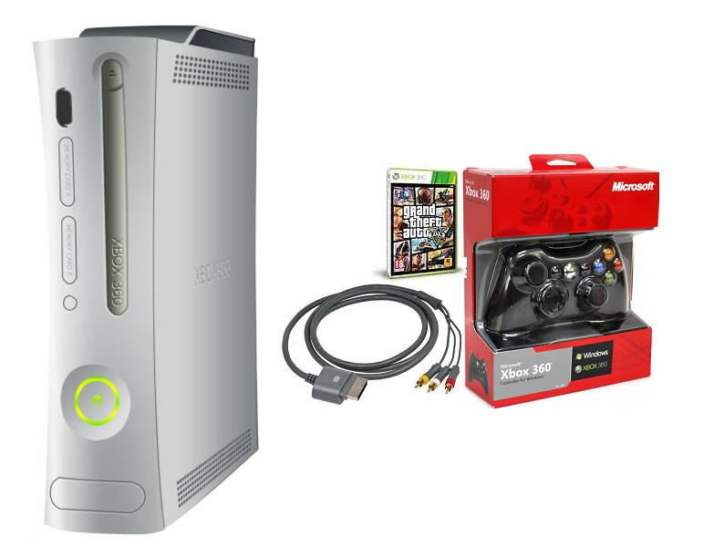 XBOX 360 LT3 20GB with Wired Controller and GTA V