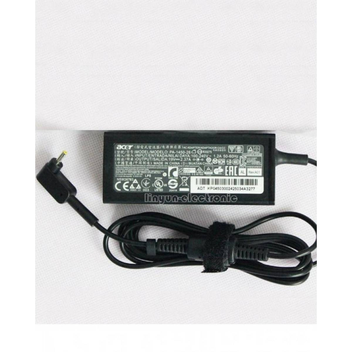 Acer 45W 19V 2.37A AC Adapter Charger PA-1450-26 3.0mm*1.1mm for Chromebook 15 CB3-531 Aspire S7-392 Ultrabook