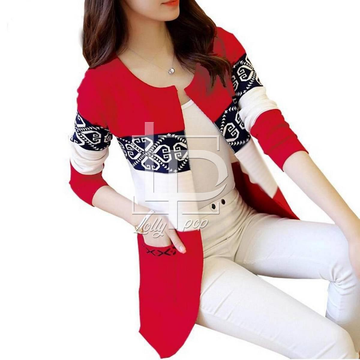 DM-Ice Cake Red Coat for Women