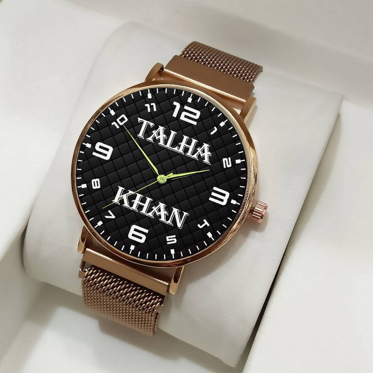 Customize Name Magnet Chain Watch For Men