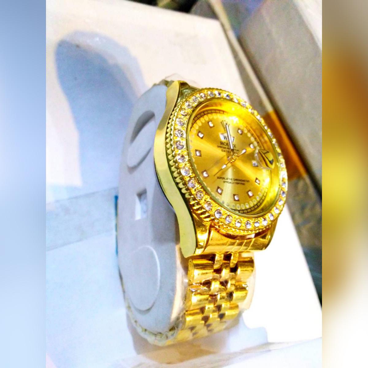 Luxury Gold Men's Wrist Watch Rich Quality Tourbillon Mechanical Waterproof Business Watch